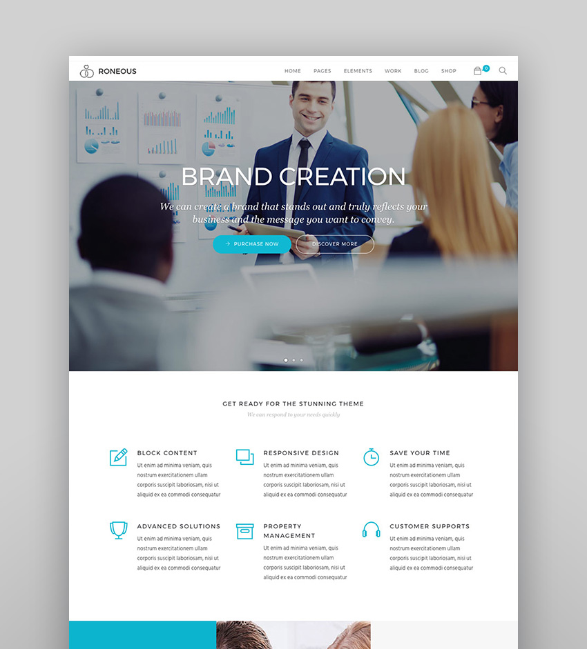 Roneous - Innovative Business WordPress Agency Theme