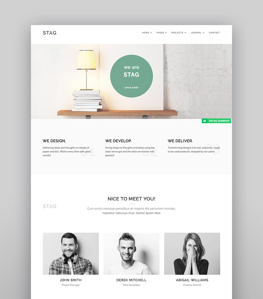 Stag - WordPress Theme for Agencies and Freelancers