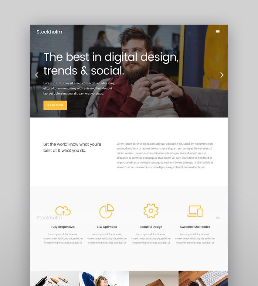 Stockholm - Creative Agency WordPress Site Theme
