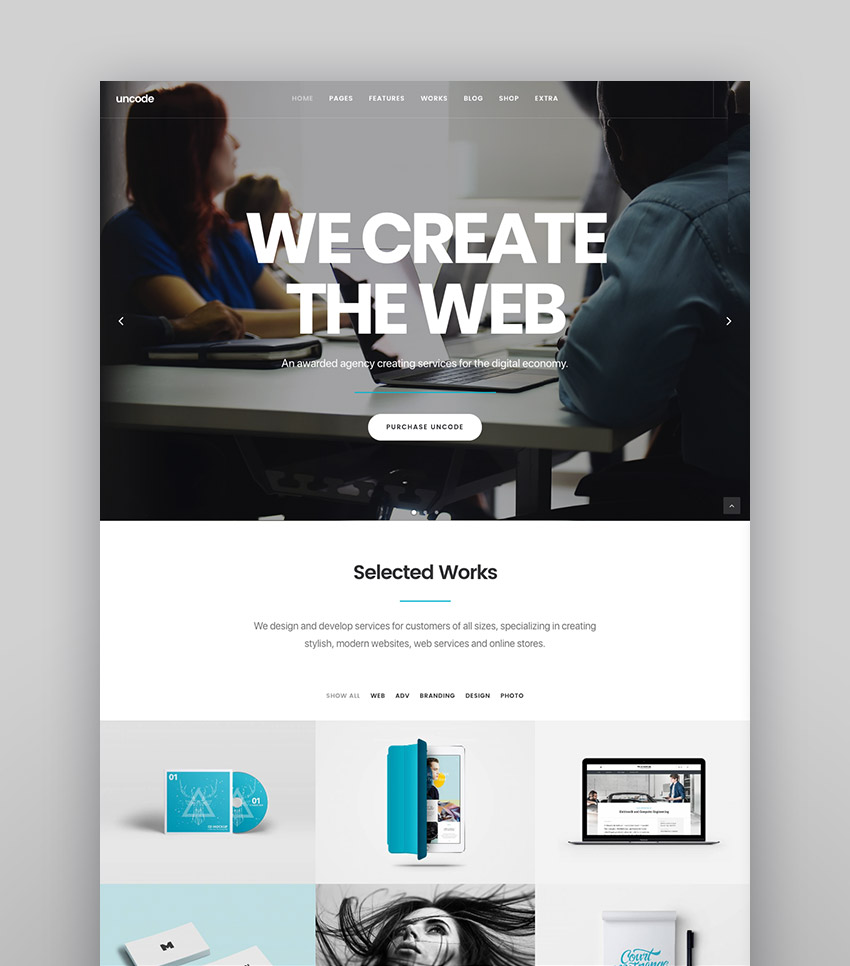 Uncode - Clean and Modern Agency Website Theme