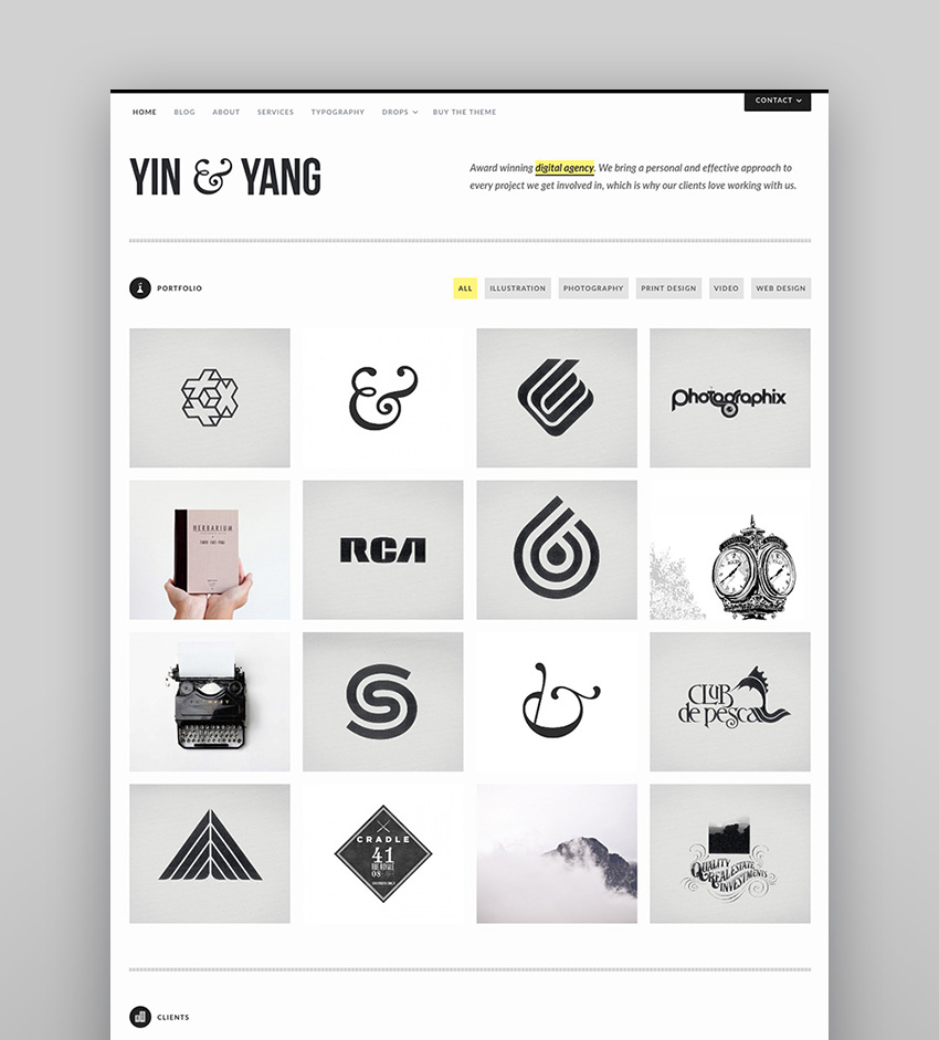 Yin  Yang - Clean and Responsive WP Theme