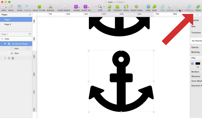 How to Design an Icon Using Boolean Operations in Sketch