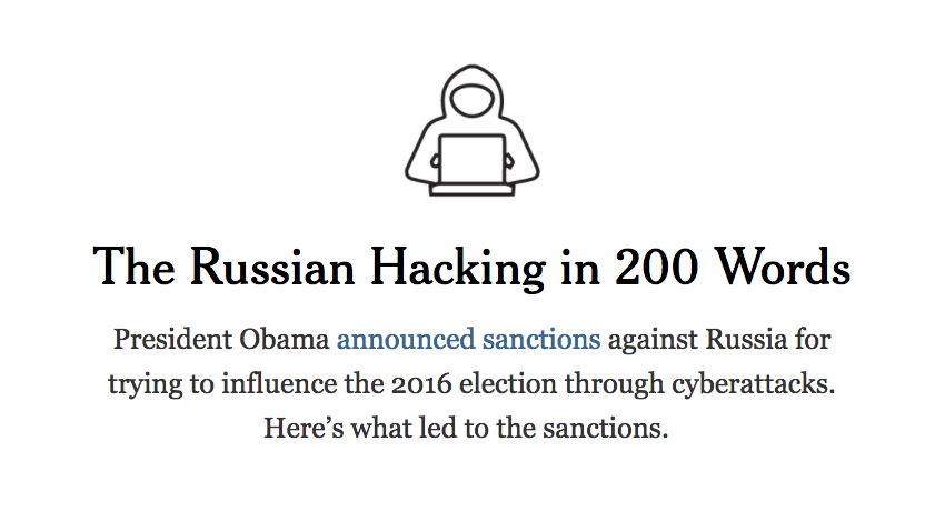 The Russian Hacking in 200 Words