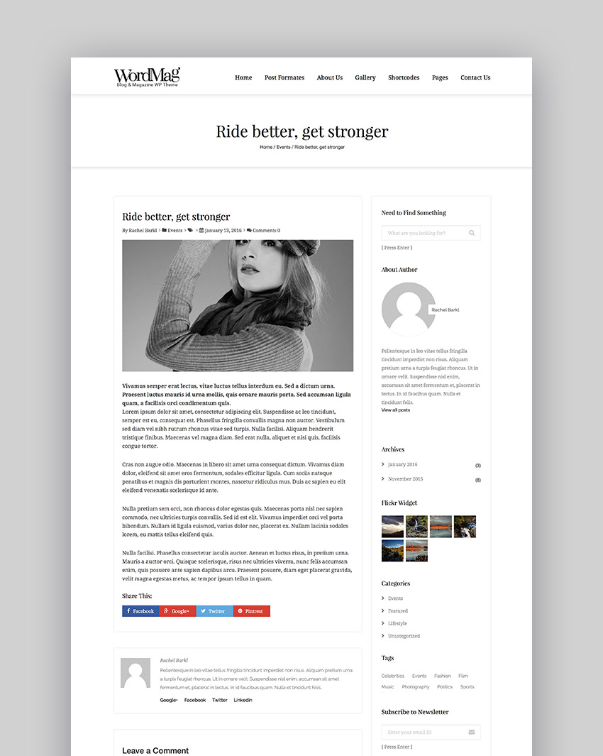 WordMag - Typography Focused WordPress Magzine Theme