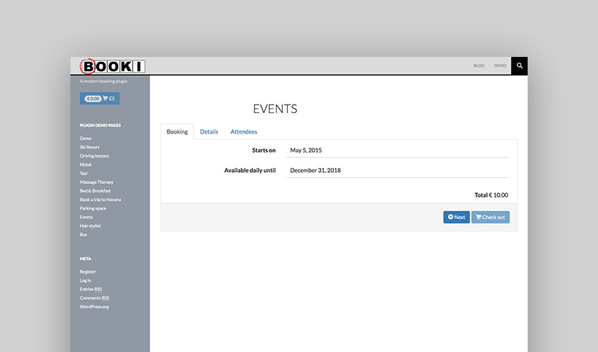 Booki - WordPress Booking Calendar plugin for reservations and appointments