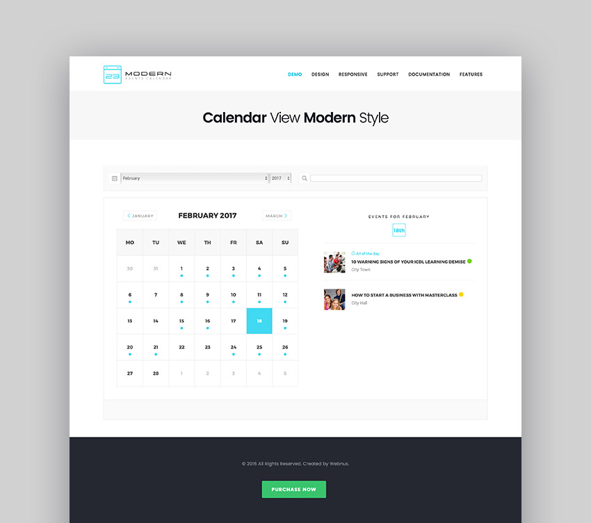 Modern Events Calendar - Responsive Event Scheduler  Booking For WordPress