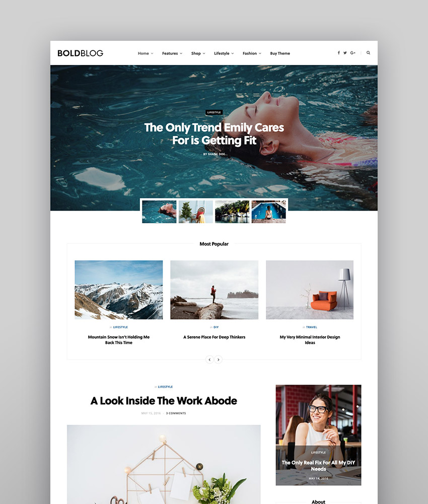 CheerUp - Modern Personal WordPress Blog Theme