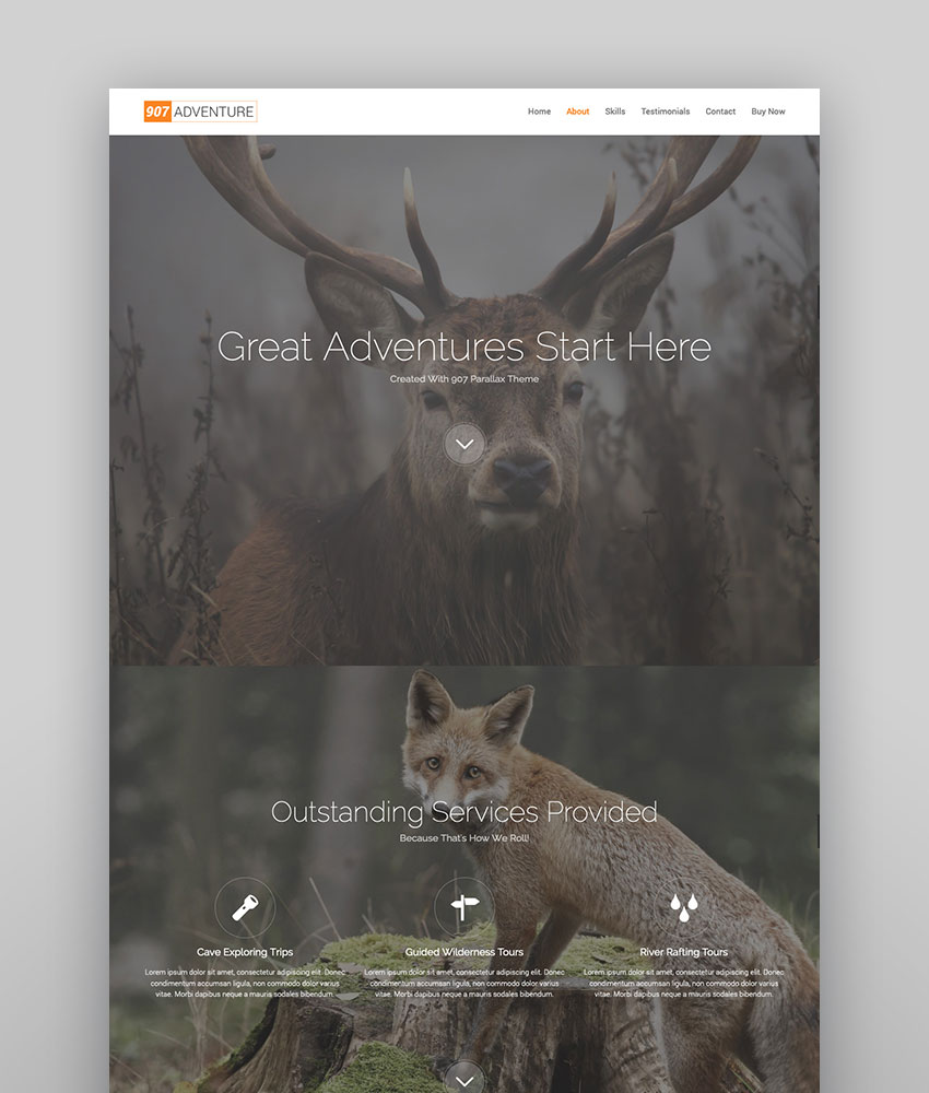 907 - Responsive Multi-Purpose WordPress Theme