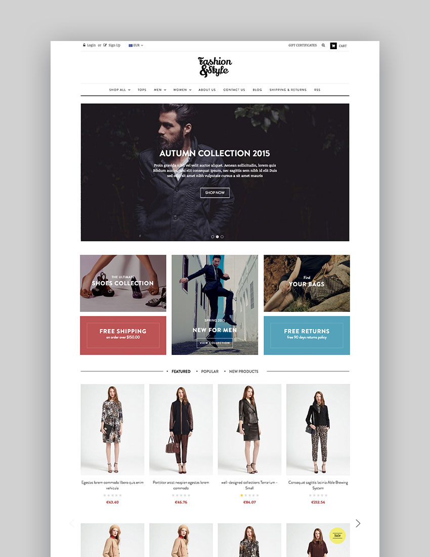 AP Fashion Store - Elegant Online Store Fashion Theme