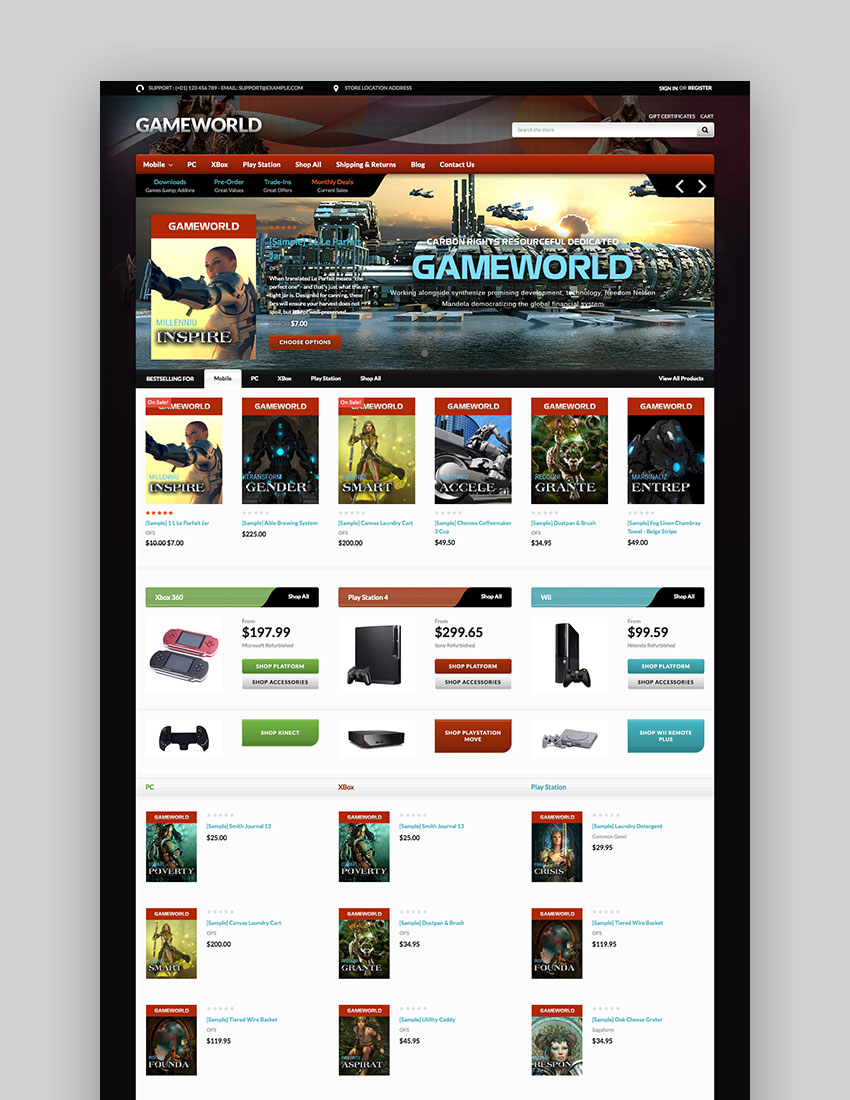 Gameworld - Responsive BigCommerce Game Store Theme