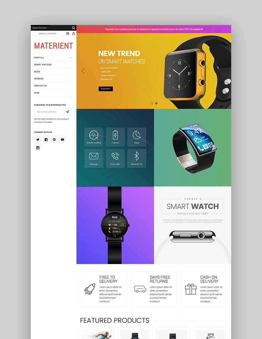Materient Material and Colorful BigCommerce Theme