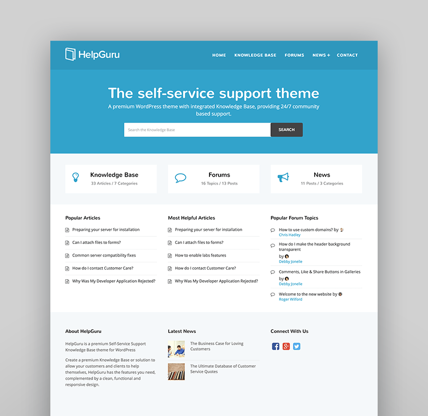 HelpGuru - A Self-Service Help WordPress Wiki Theme