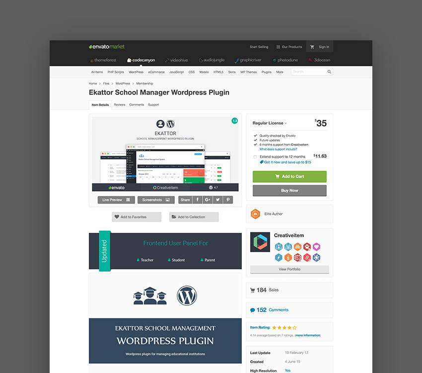 Ekattor School Manager Wordpress Plugin