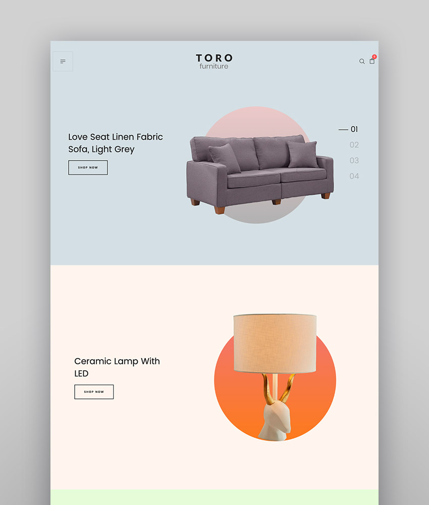 Toro - Clean Minimal WooCommerce Theme With Modern Website Layout