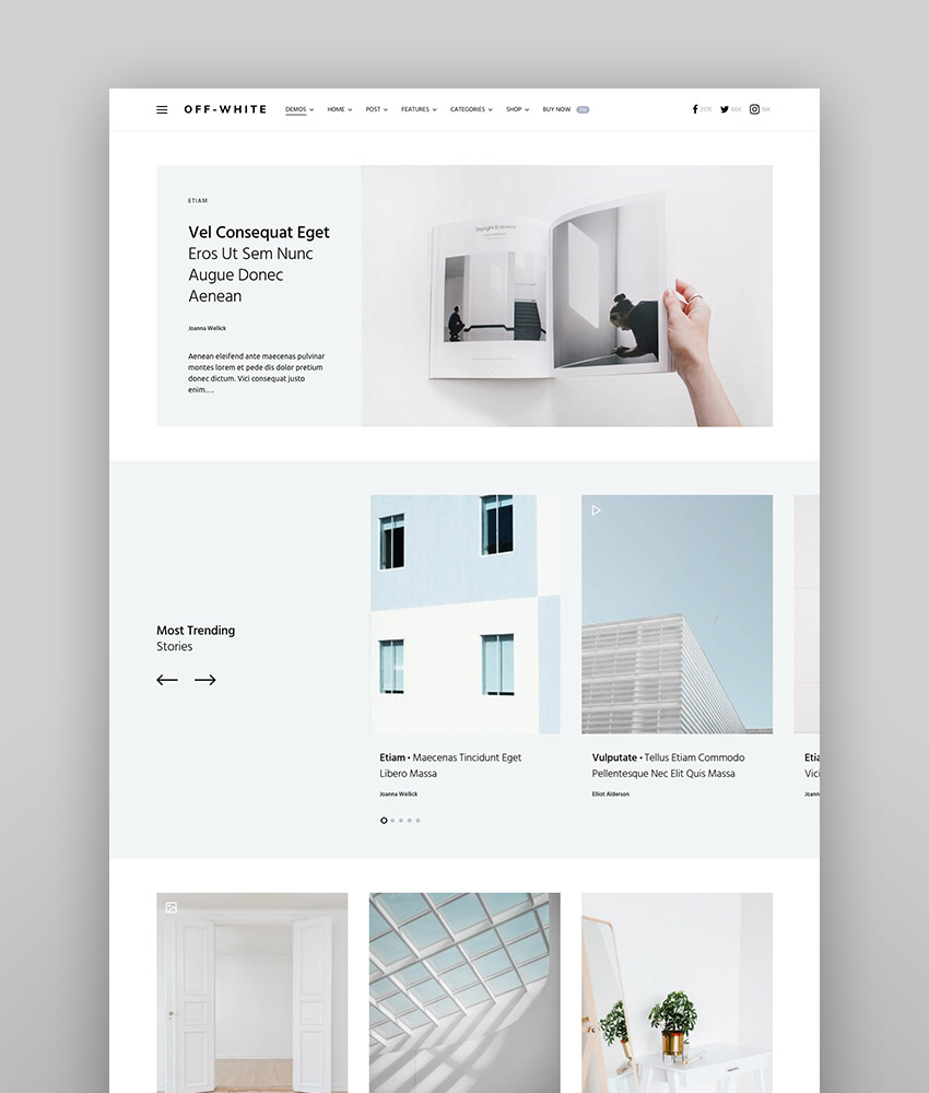 Once - Clean  Elegant WordPress Blog Theme