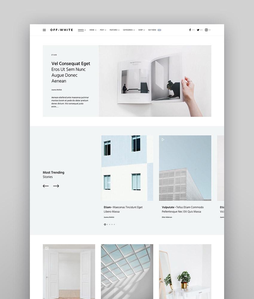 Once - Clean  Elegant WordPress Blog Theme