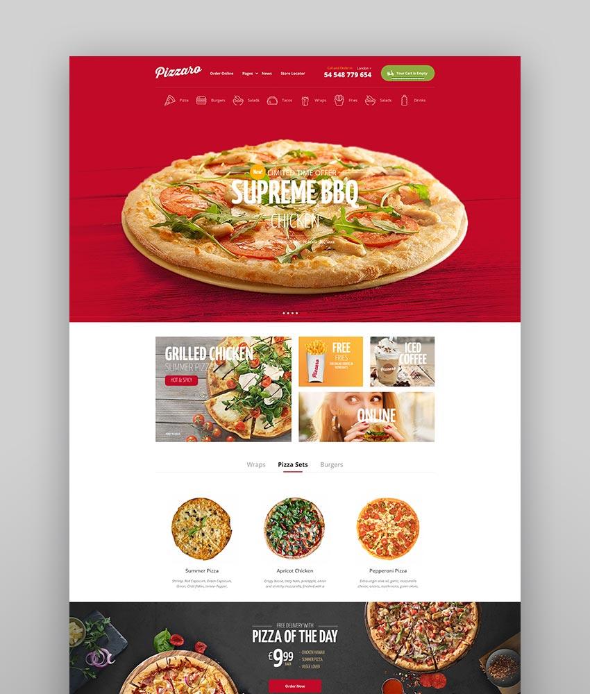 Pizzaro - Fast Food  Restaurant WooCommerce Theme