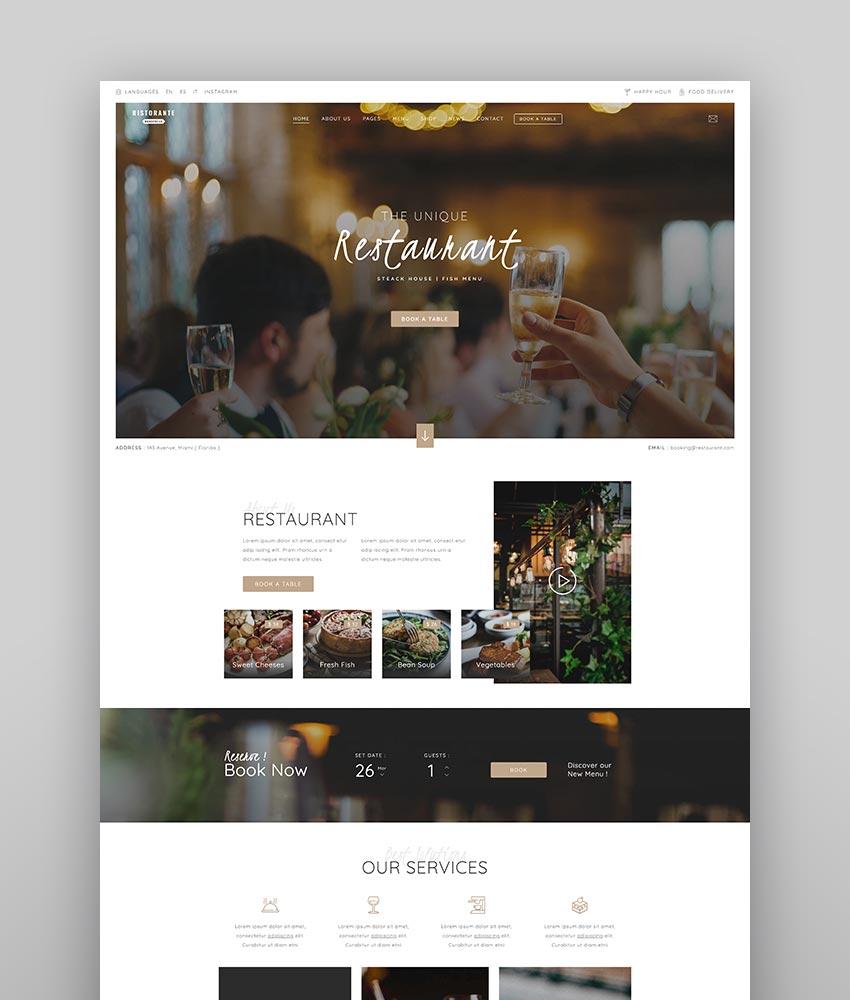 Restaurant Food WordPress Theme
