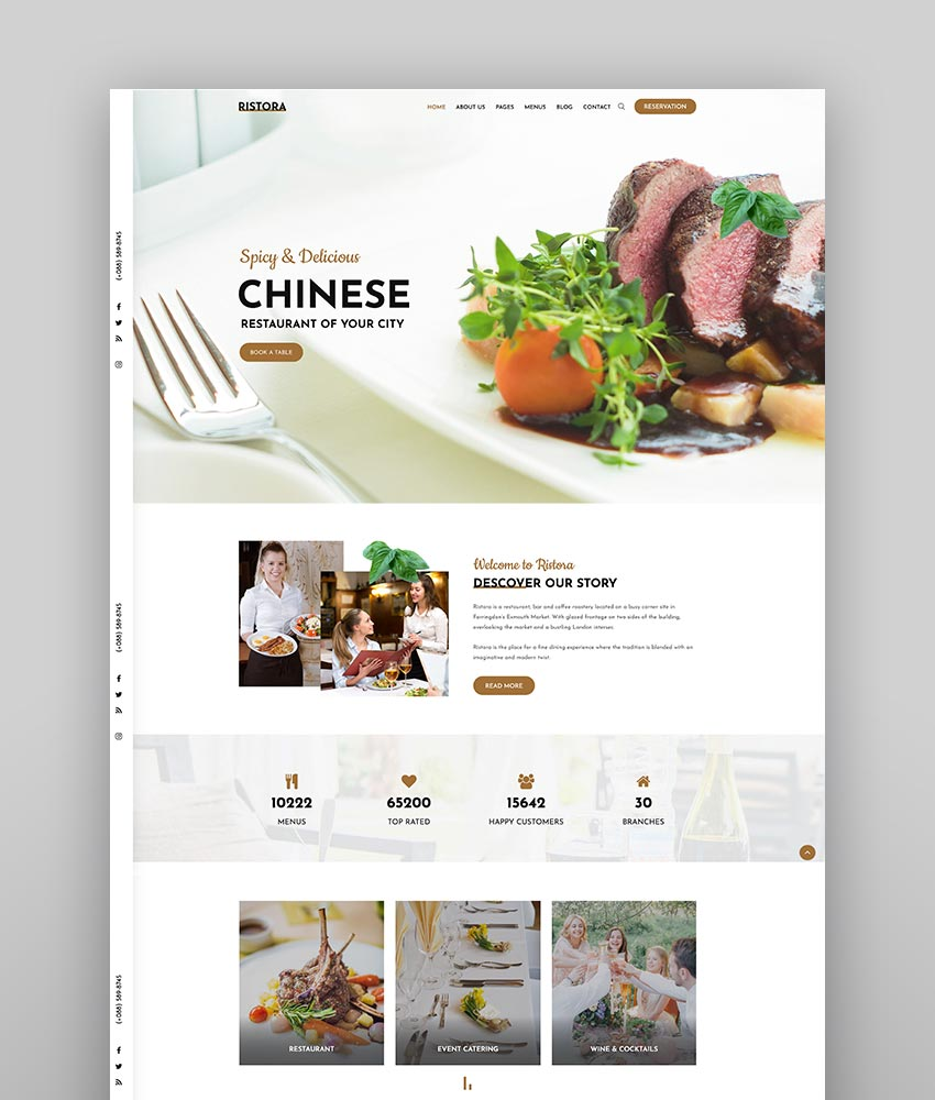 Ristora - Restaurant  Food WordPress Theme