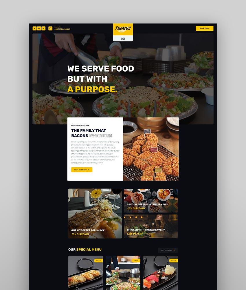 Treatos - Authentic Restaurant Theme