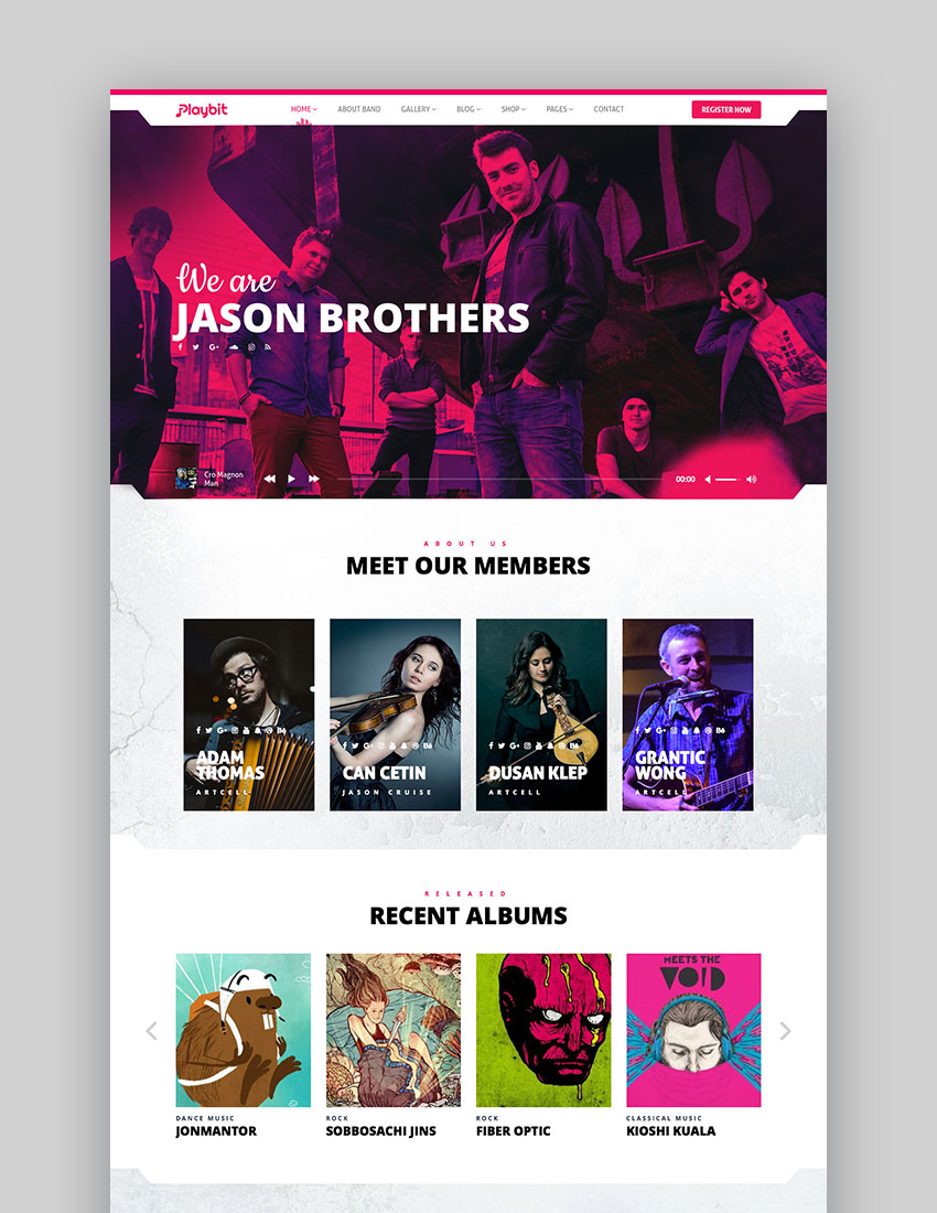 Tips For Creating a Rockin' Band Website