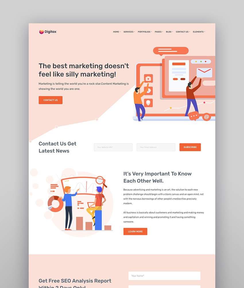 Digitax - SEO Digital Marketing Agency WordPress Theme