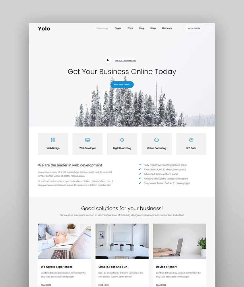 Yolo Multi-Purpose Creative WordPress Themes