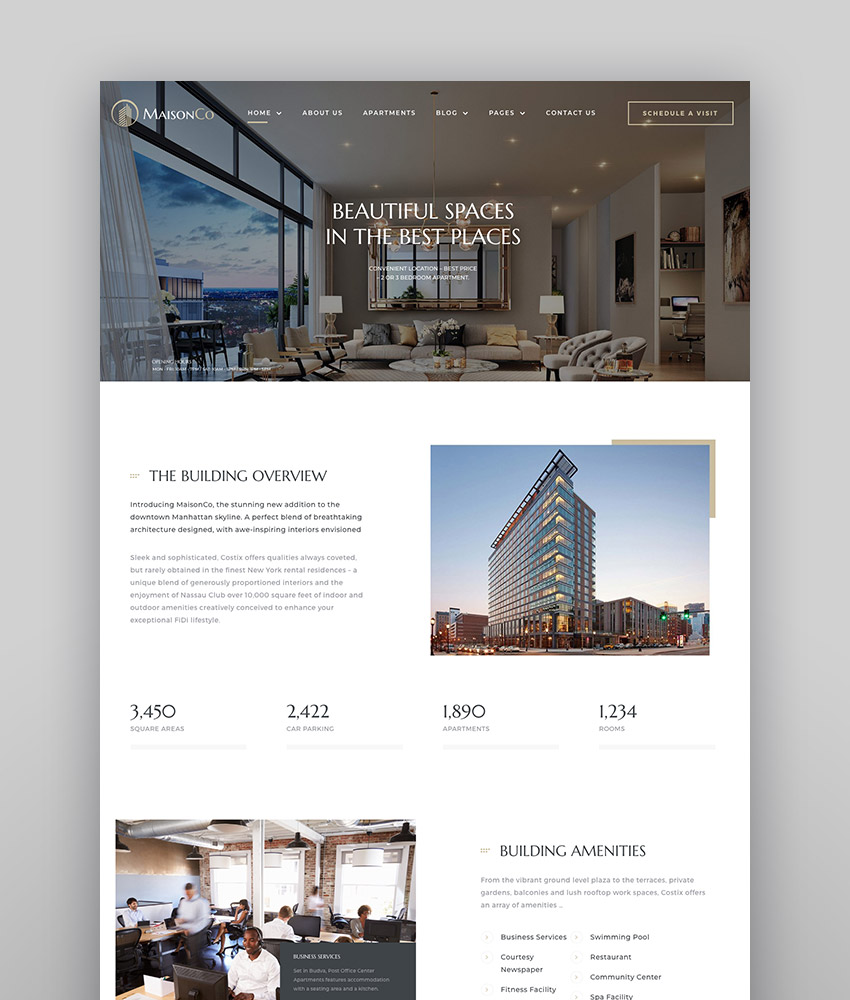 MaisonCo - Single Property WordPress Theme