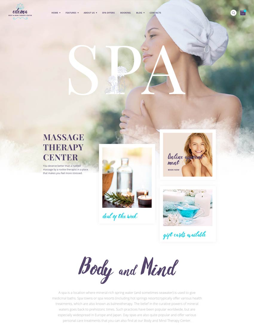 Edema  Wellness  Spa WordPress Theme