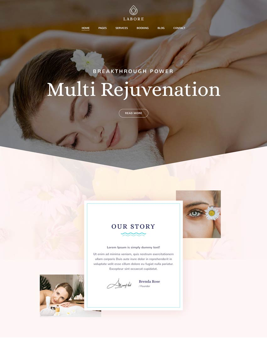 Labore - Spa Beauty WordPress Theme