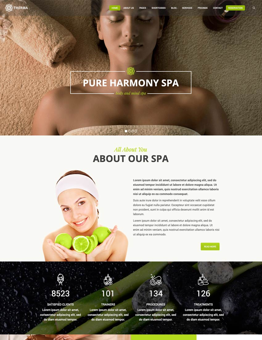 Therma - Spa Beauty Cosmetic WordPress Theme