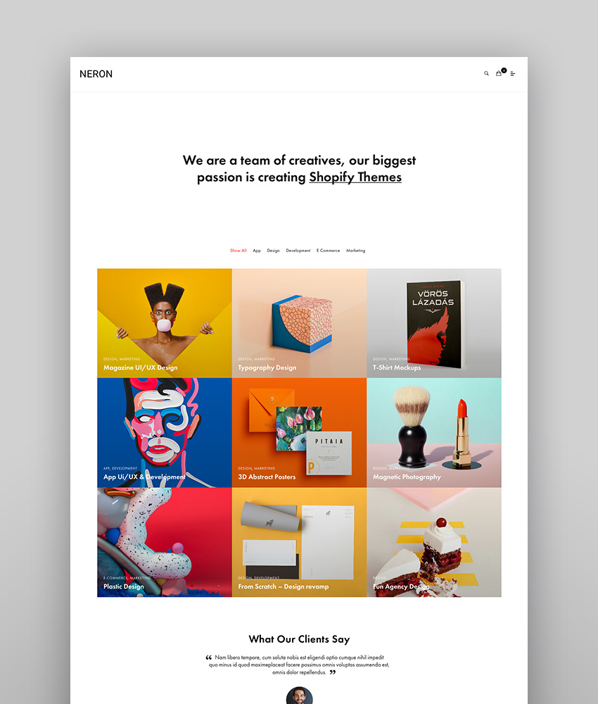 Neron - Multipurpose Portfolio WordPress Theme