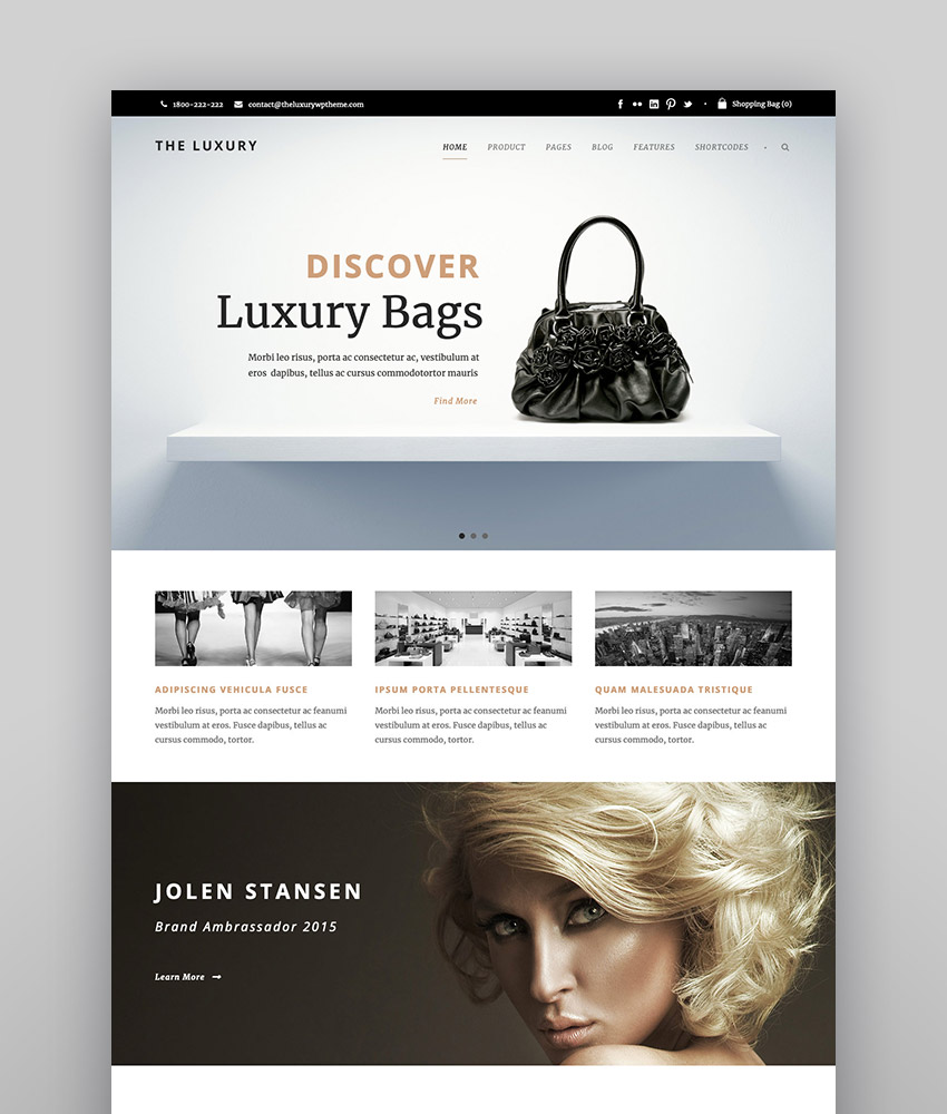 The Luxury - Dark  Light Responsive WordPress