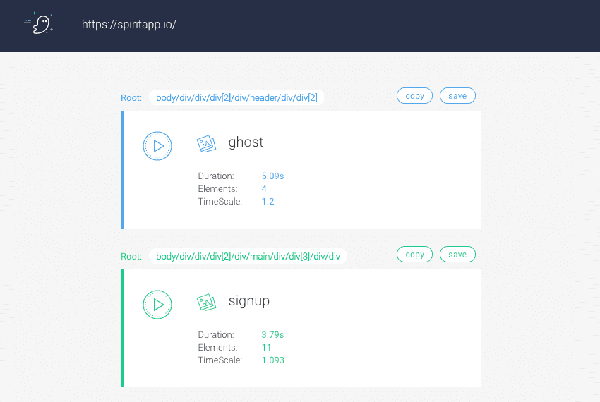 Spirit App: Easy Realtime Animation For the Web