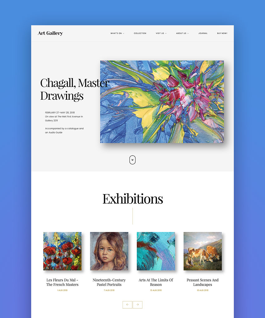 Arte  Art Gallery WordPress Theme