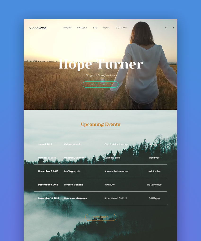 SoundRise - Music and Artist WordPress Theme