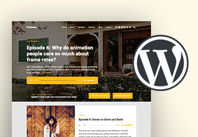 Wordpress podcast theme