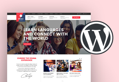Education school website wordpress theme