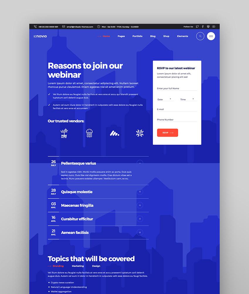 Innovio - Multipurpose Landing Page Theme