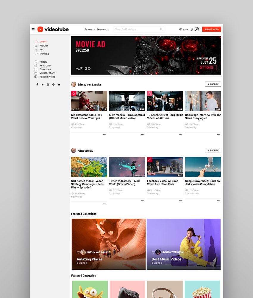 20 Best Responsive Video Sharing WordPress Themes