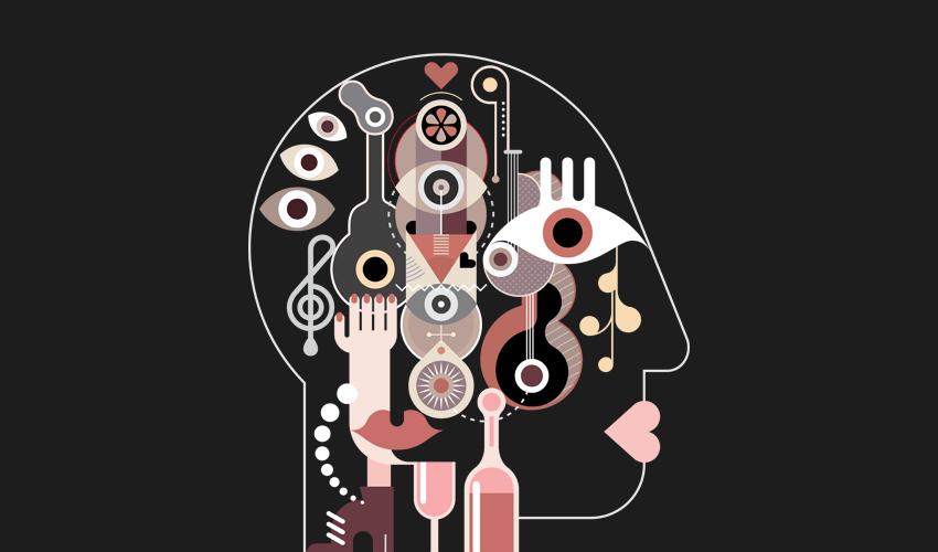 Abstract fine art Human Head