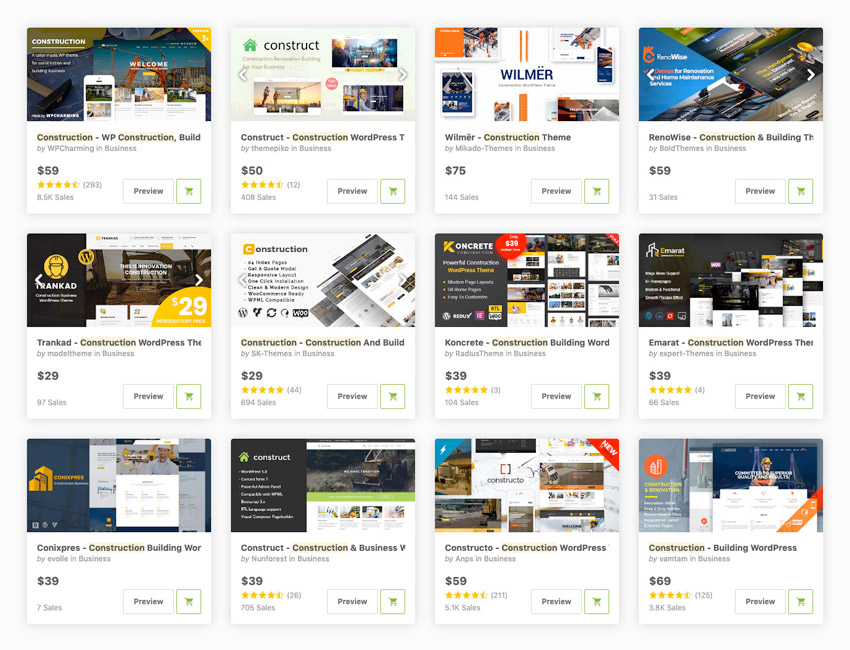 best WordPress construction company themes