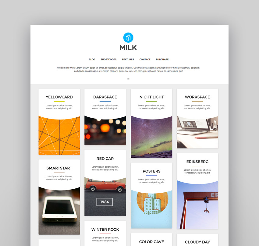 Milk simple masonry portfolio
