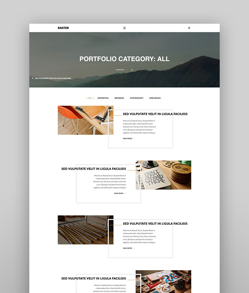 Kaster - Creative Theme for WordPress Blogs