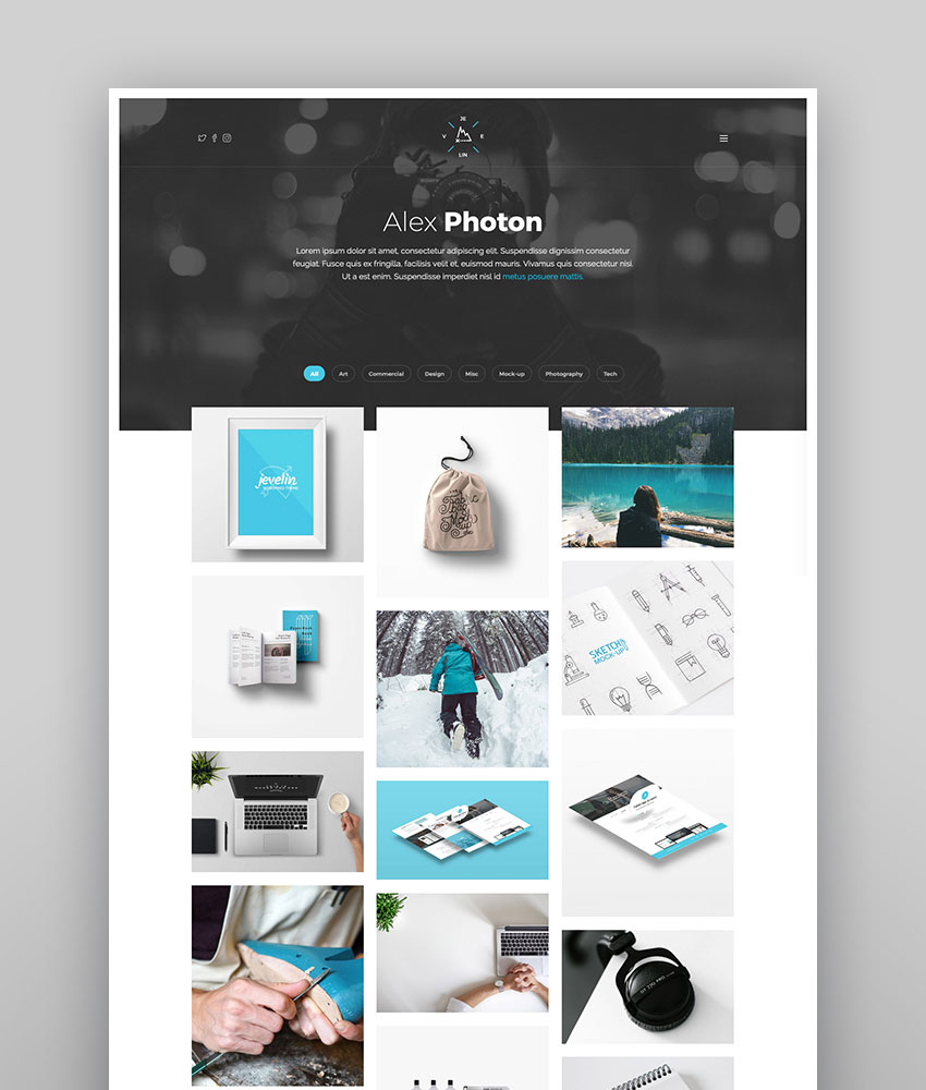 Jevelin - Bold WordPress Creative Theme