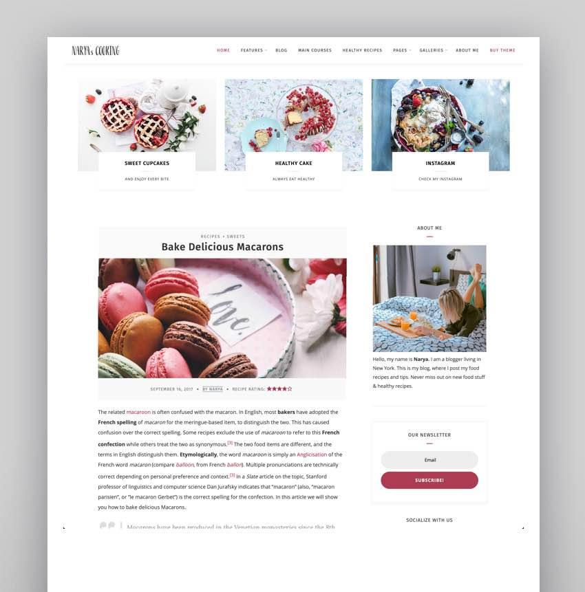 Narya - WordPress Food Blog Theme