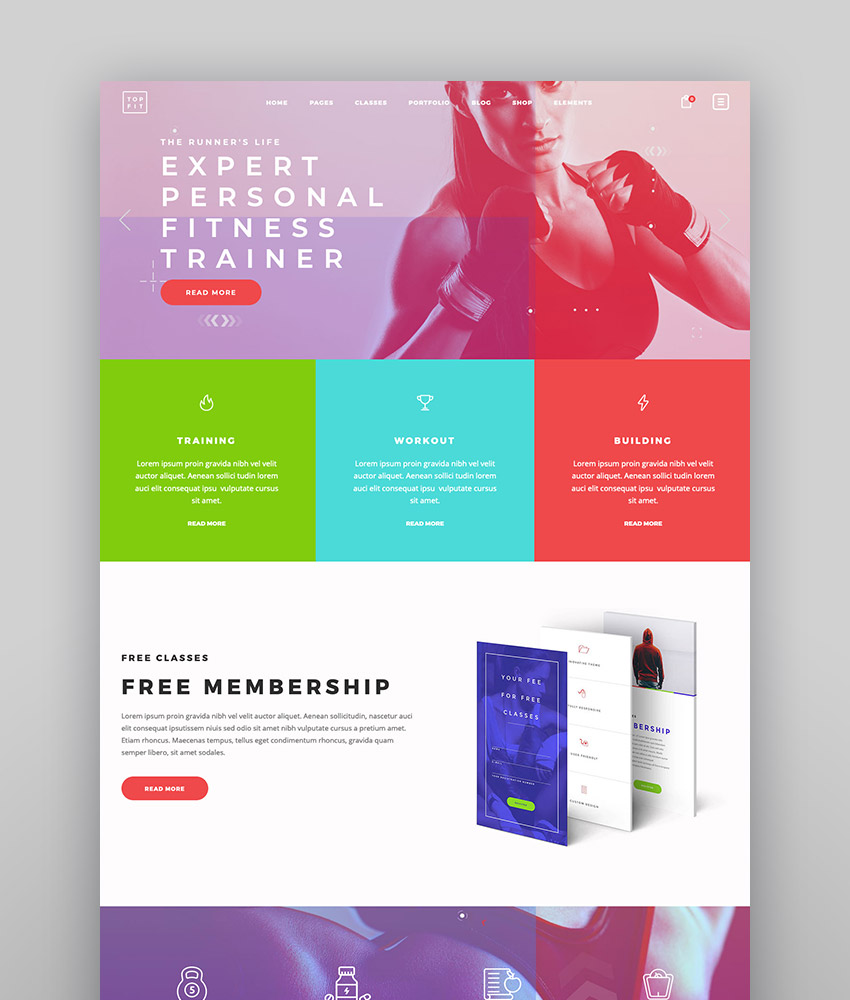TopFit - Fitness and Gym Theme