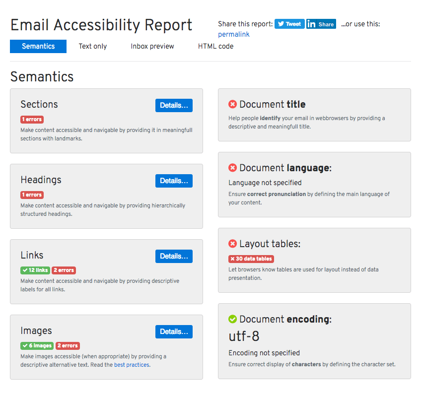 thorough report from httpwwwaccessible-emailorg