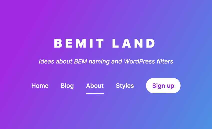 Quick Tip: BEM Naming and WordPress Filters for Navigation