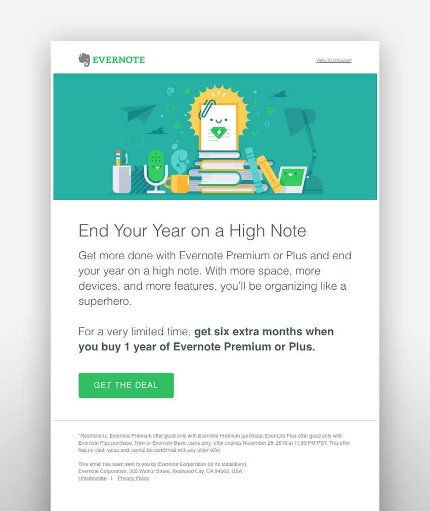 evernote email design